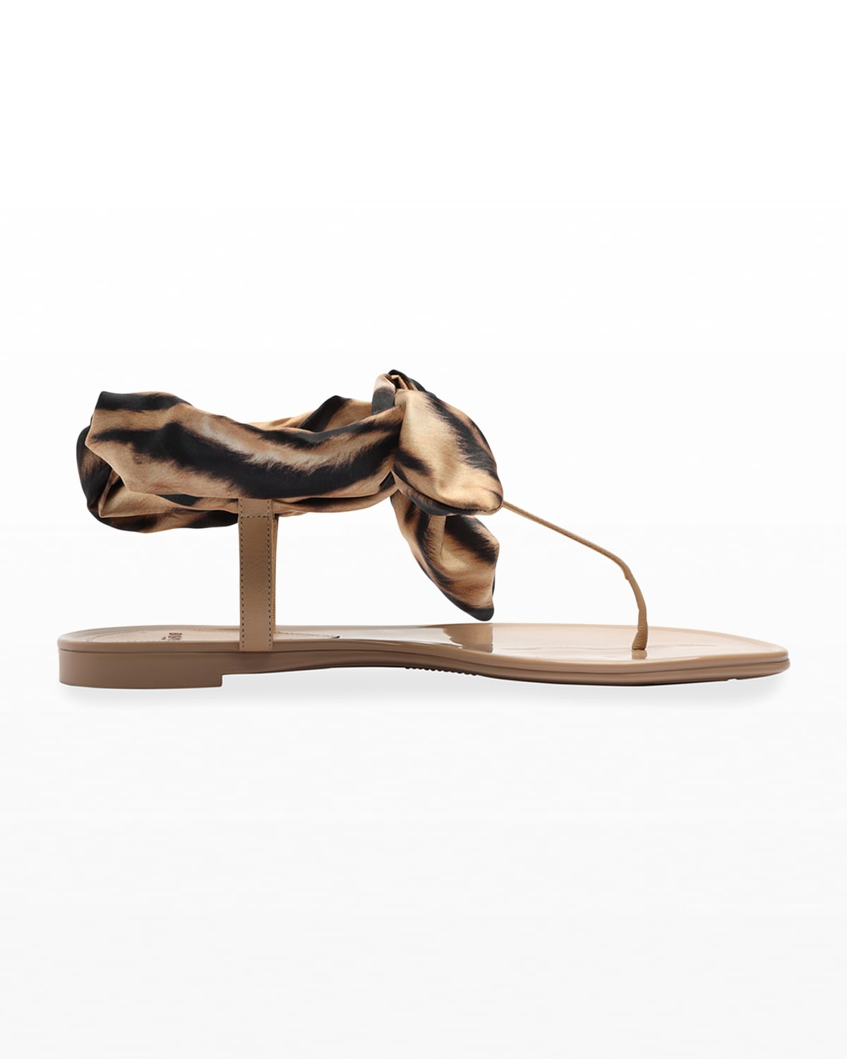 Jelly Trio Leopard Ankle-Wrap Thong Sandals
