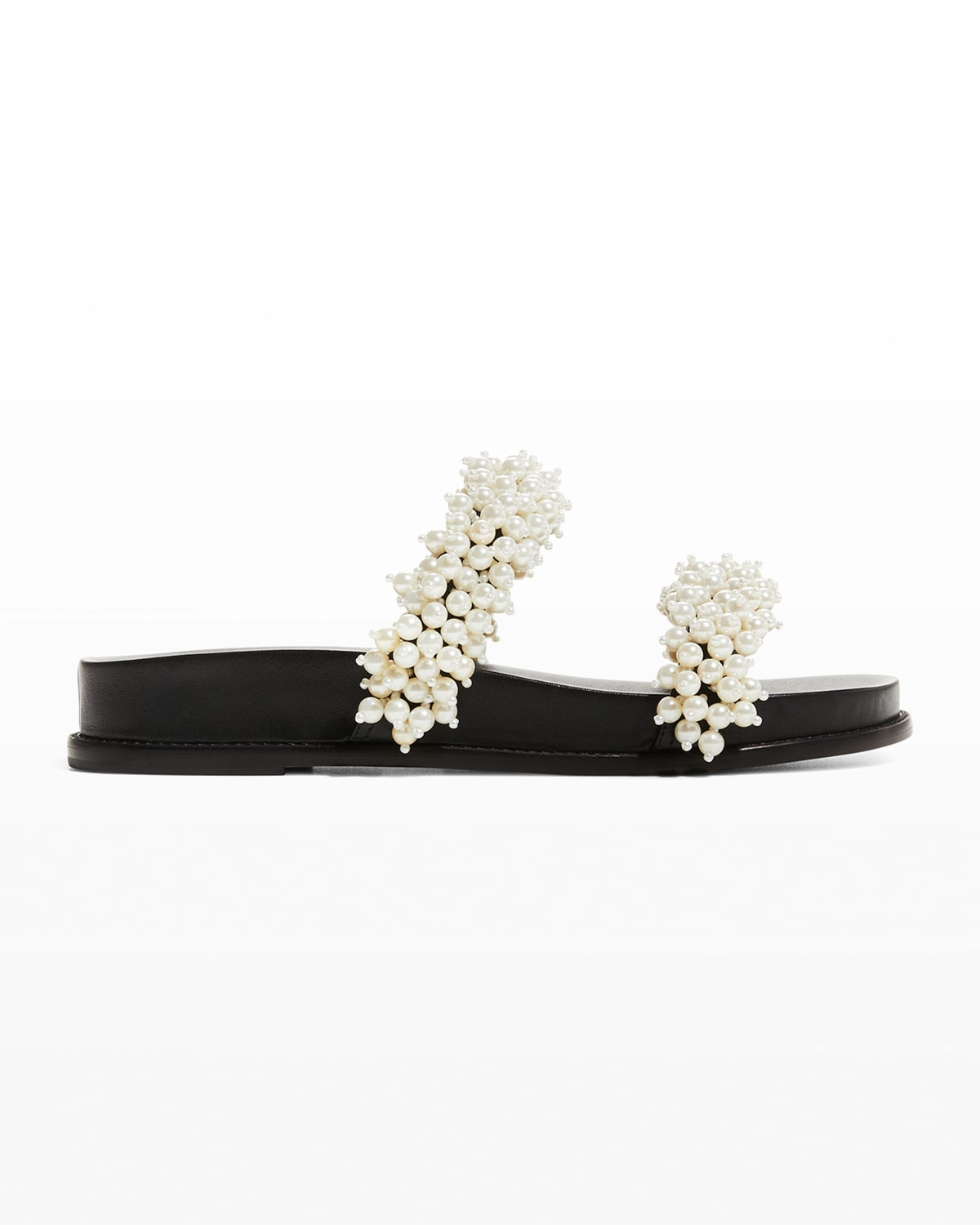 Costanza Faux Pearl Dual-Band Sandals