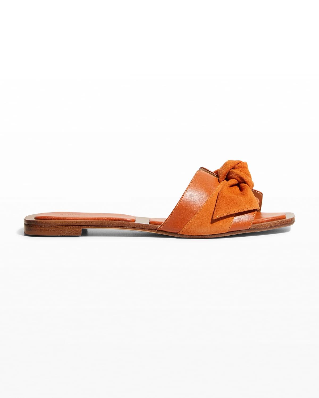 Maxi Clarita Mixed Leather Knot Sandals