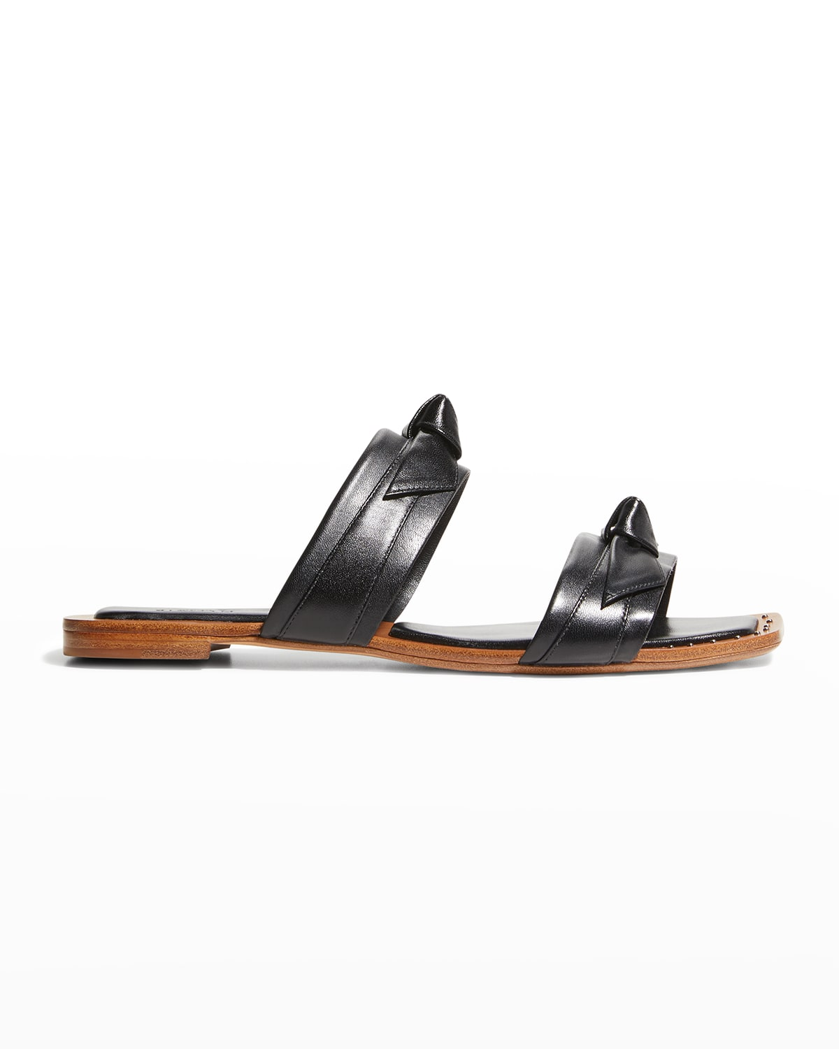Clarita Leather Knot Two-Band Sandals