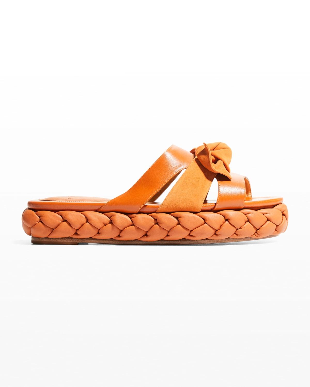 Maxi Clarita Leather Flatform Sandals