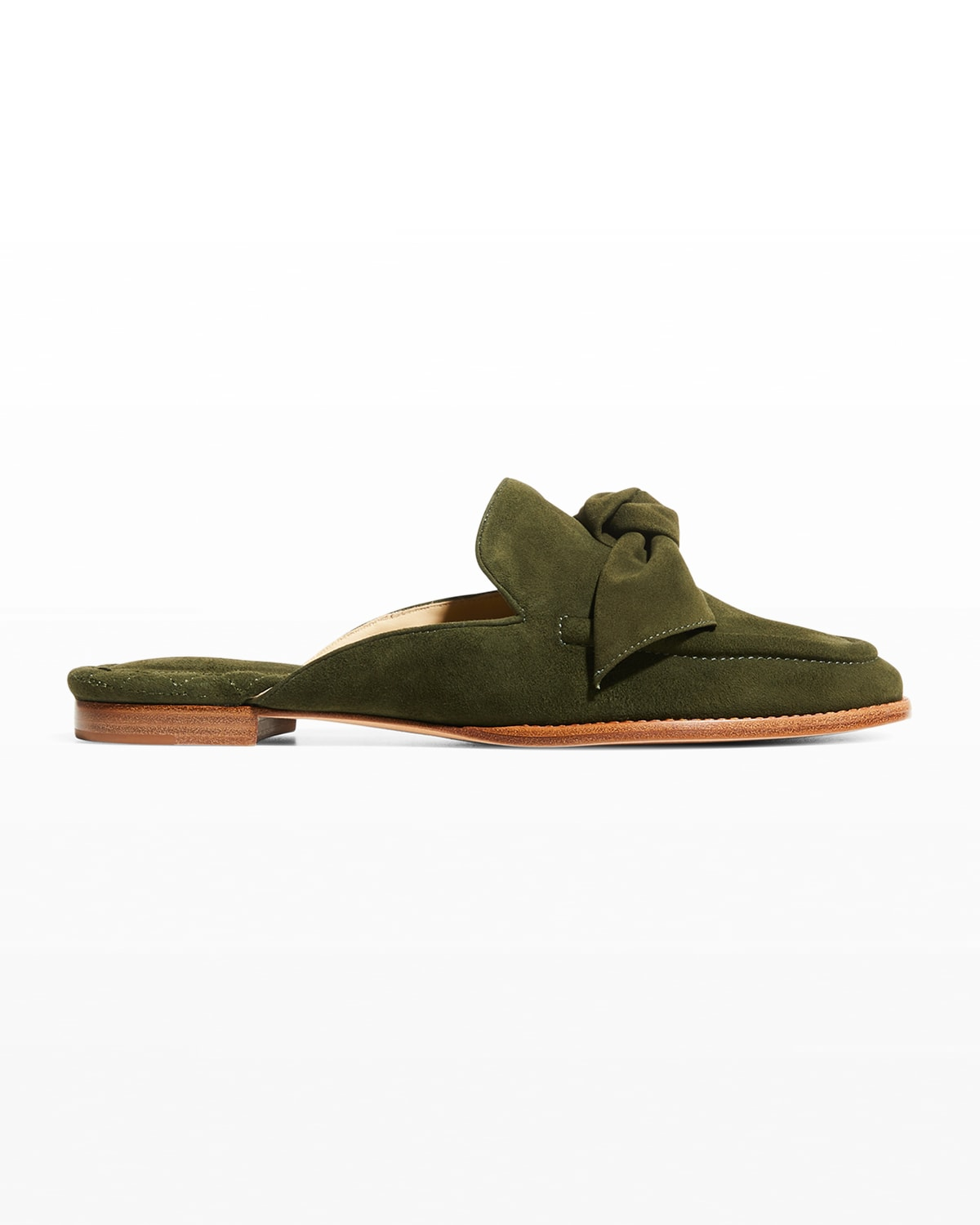 Maxi Clarita Suede Knot Loafer Mules