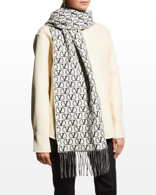 VLOGO Reversible Cashmere-Wool Scarf