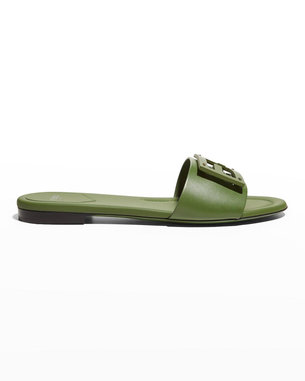 FF Tube Medallion Flat Sandals