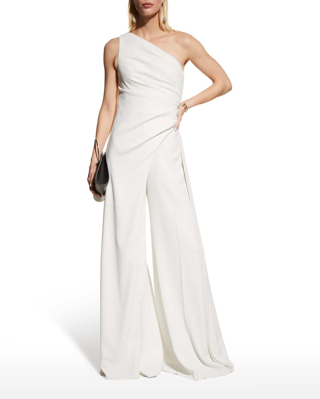 Melissa Asymmetric Side-Drape Top