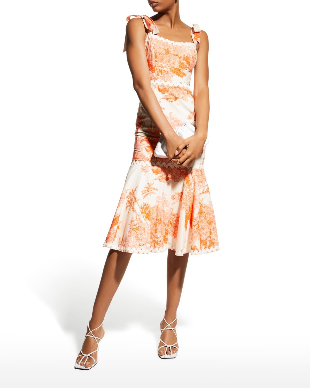 Jody Sleeveless Midi Flounce Dress