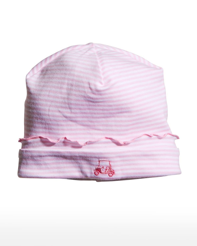 Girl's Longest Drive Striped Ruffle Baby Hat