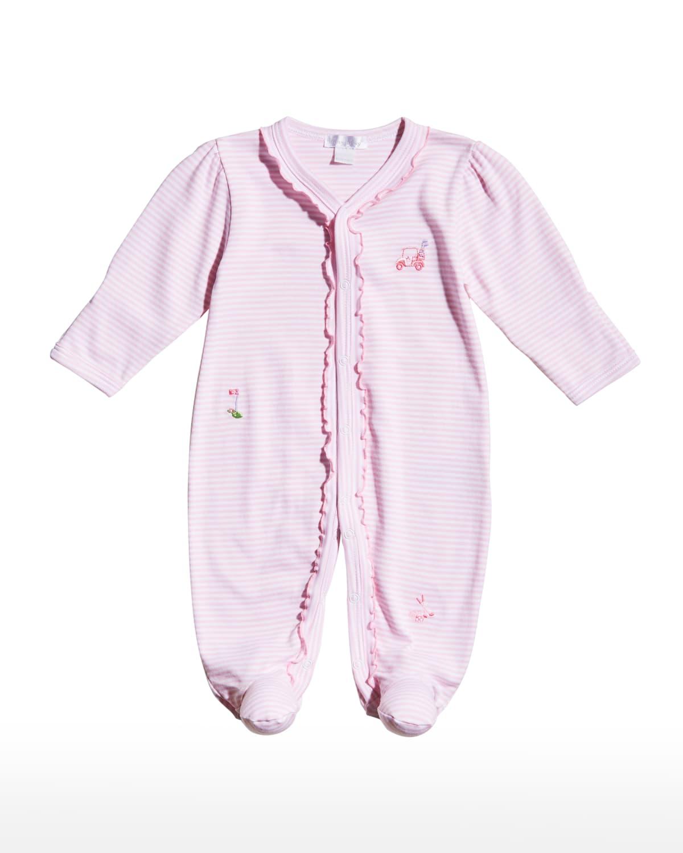 Girl's Longest Drive Striped Footie Pajamas
