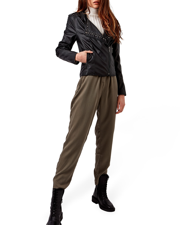 Alexandre Studded Vegan Leather Jacket