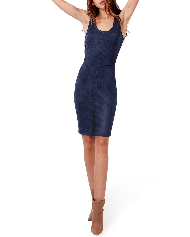 Justine Vegan-Suede Bodycon Dress