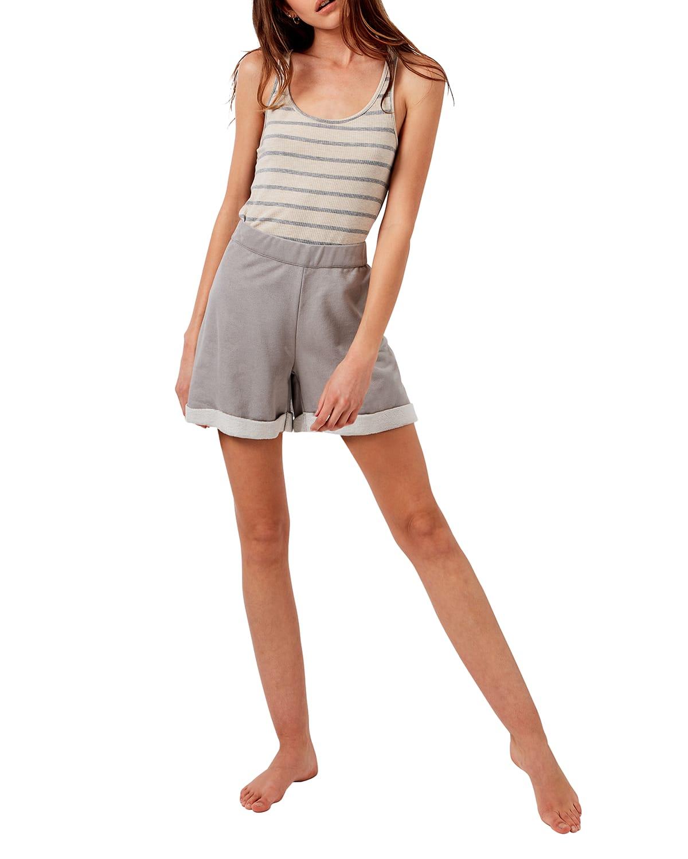 Brooklyn Vegan-Suede Terry Easy Shorts