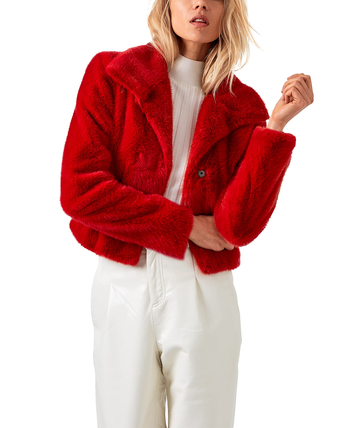 The Denise Faux-Fur Chubby Jacket
