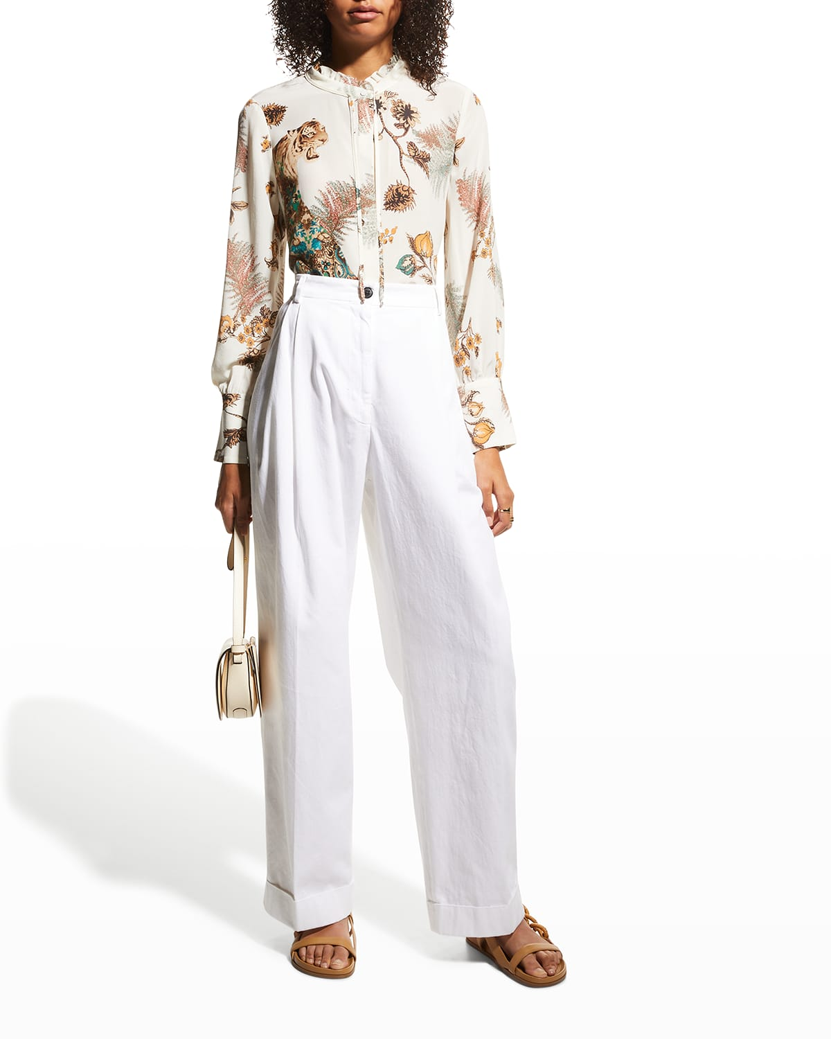 Colleen Printed Silk Blouse