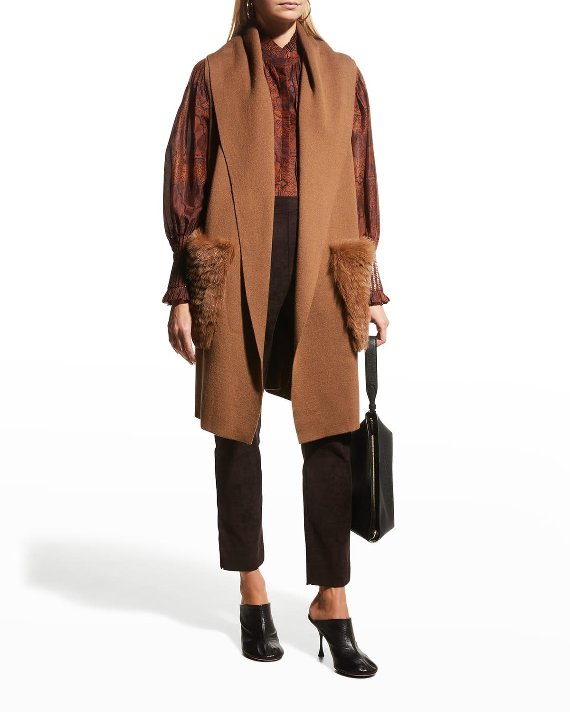 Viola Fur Ribbed Sweater