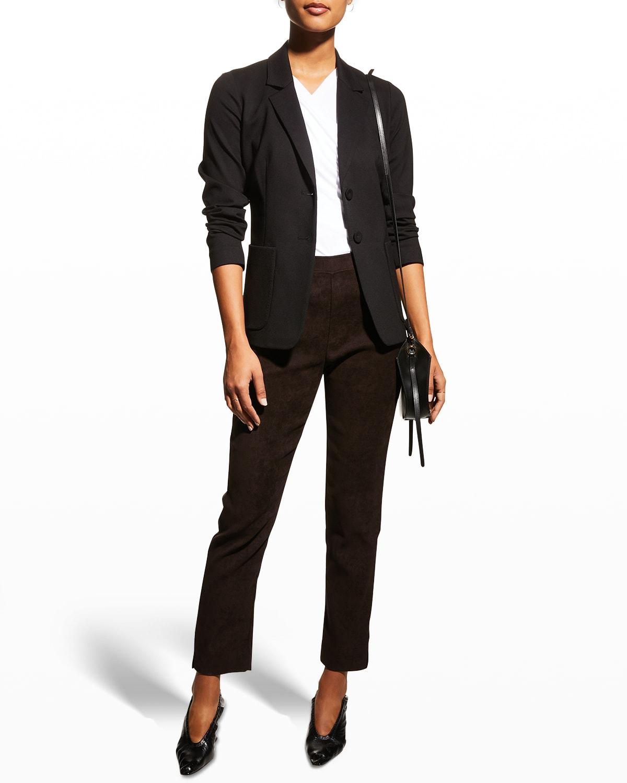 Steffi Two-Button Ponte Jacket