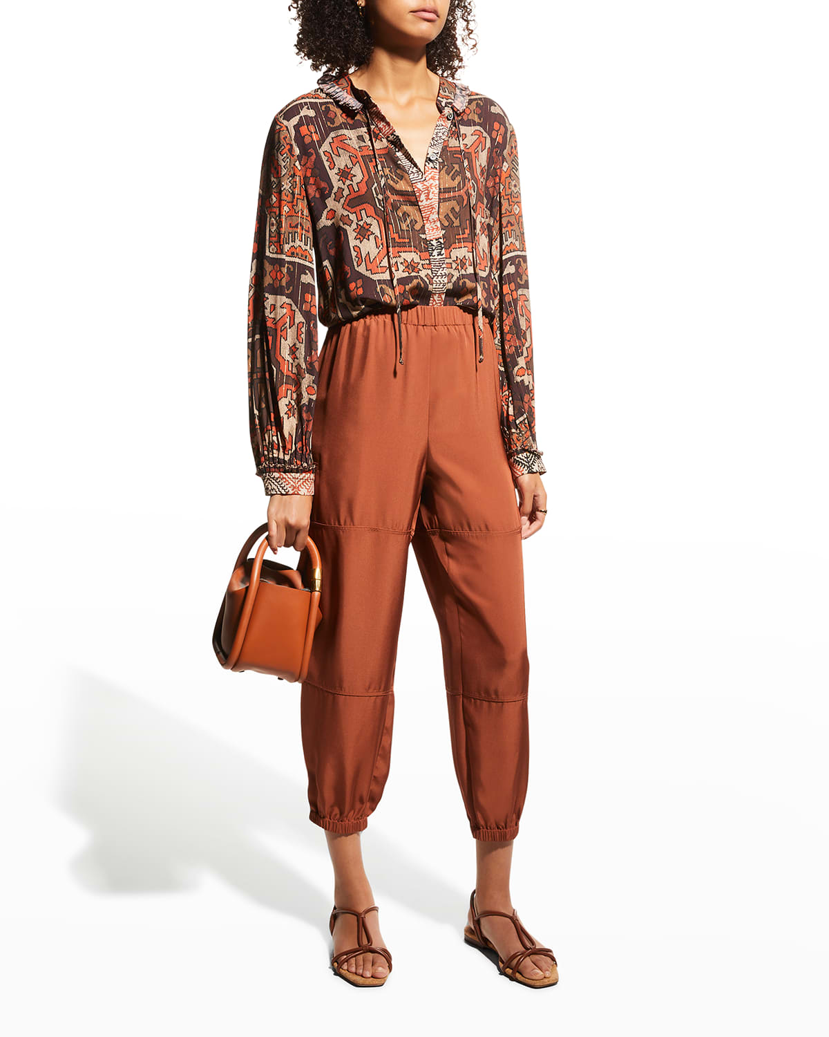 Tricia Printed Long-Sleeve Blouse
