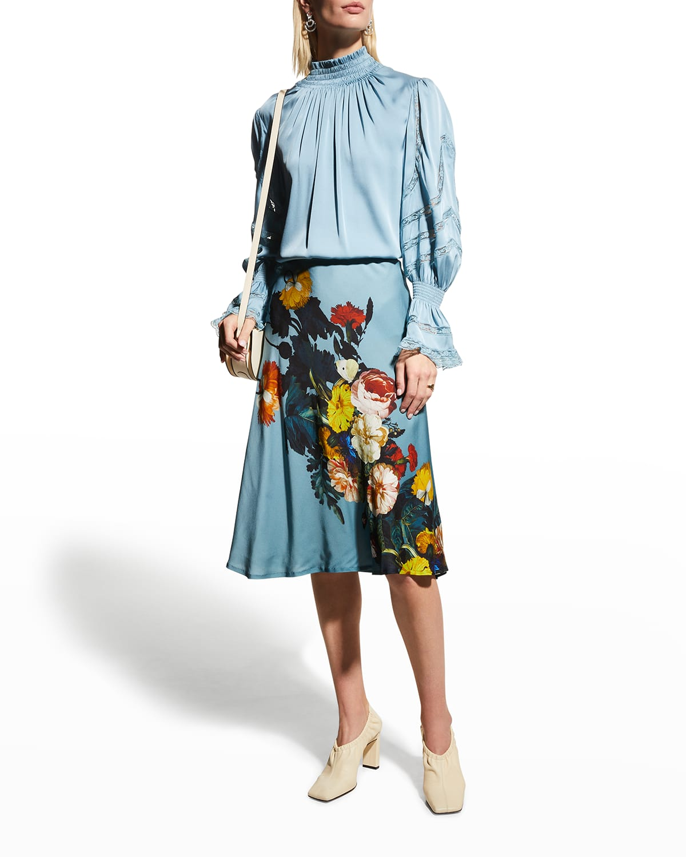 Jody Floral A-Line Skirt