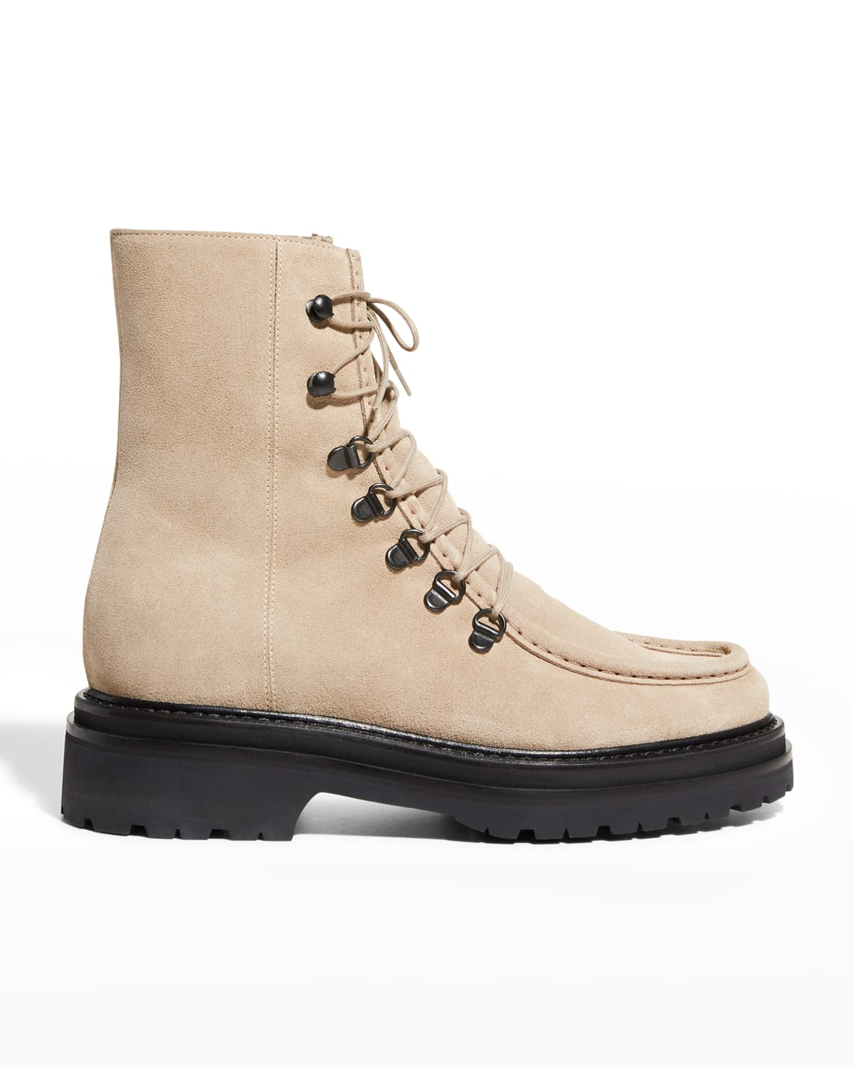 New College Suede Lace-Up Boots