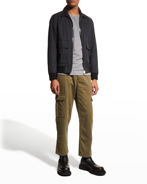 Men's Twill Straight-Leg Cargo Trousers