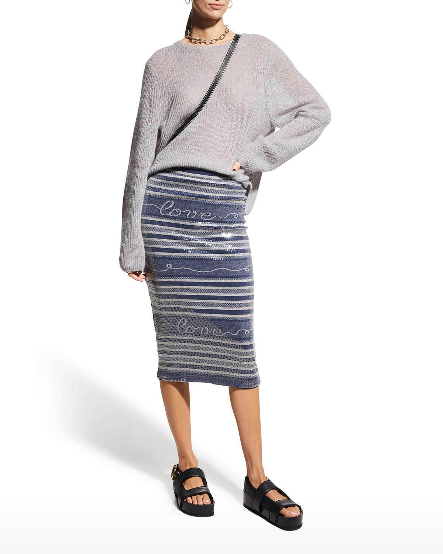 Summer Of Love Liza Sequined Skirt