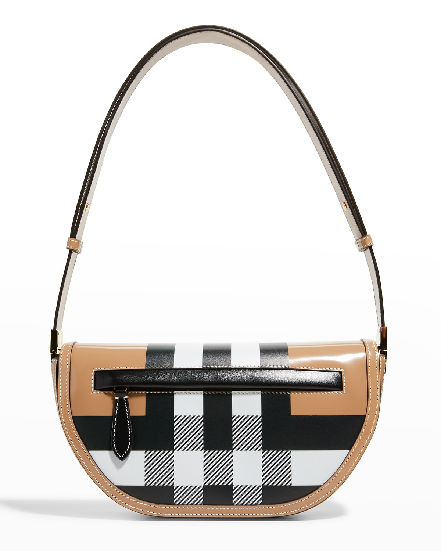 Olympia Small Check Shoulder Bag