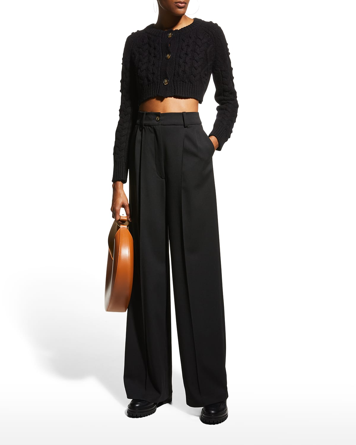 Mouro Pleated Wide-Leg Pants