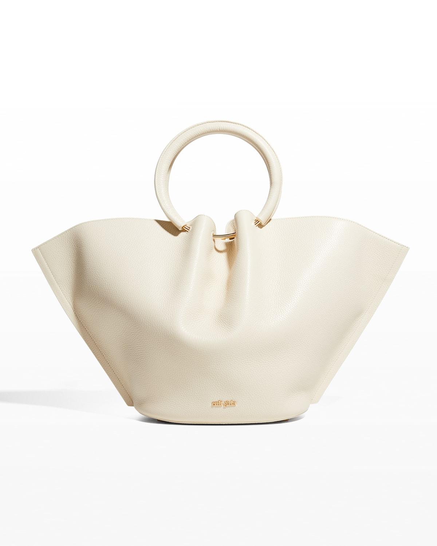 Valeska Leather Ring Top-Handle Bag