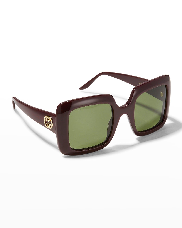 Interlocking G Oversized Square Acetate Sunglasses