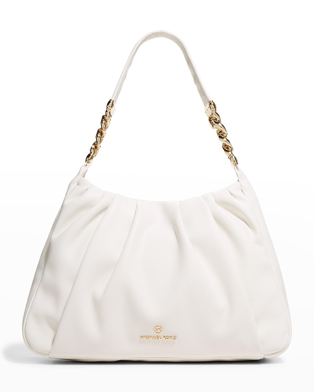 Hannah Medium Ruched Shoulder Bag