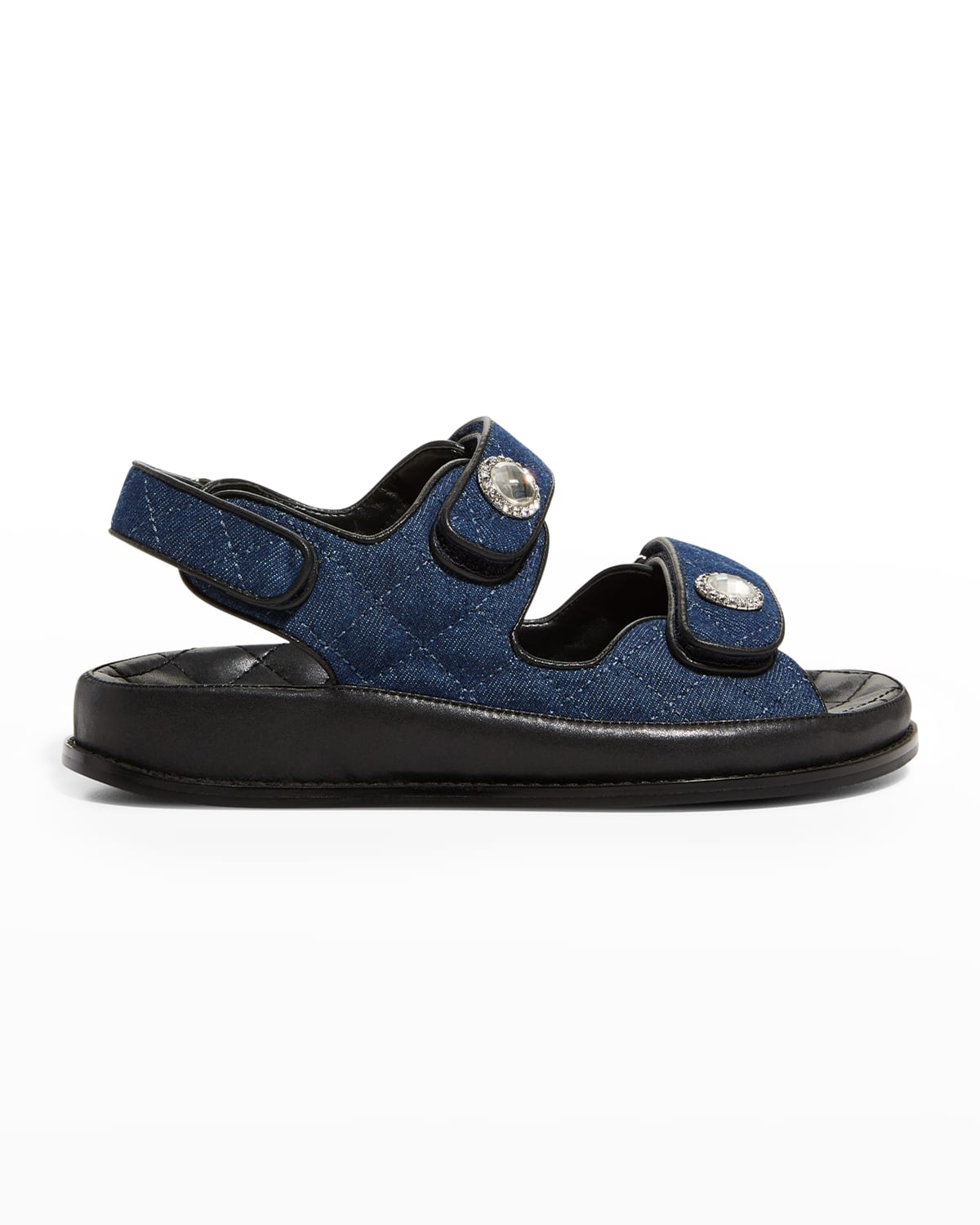 Cami Quilted Denim Sporty Sandals