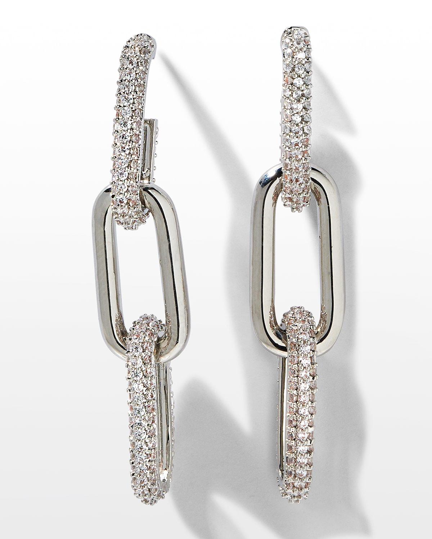 Pave U-Link Earrings