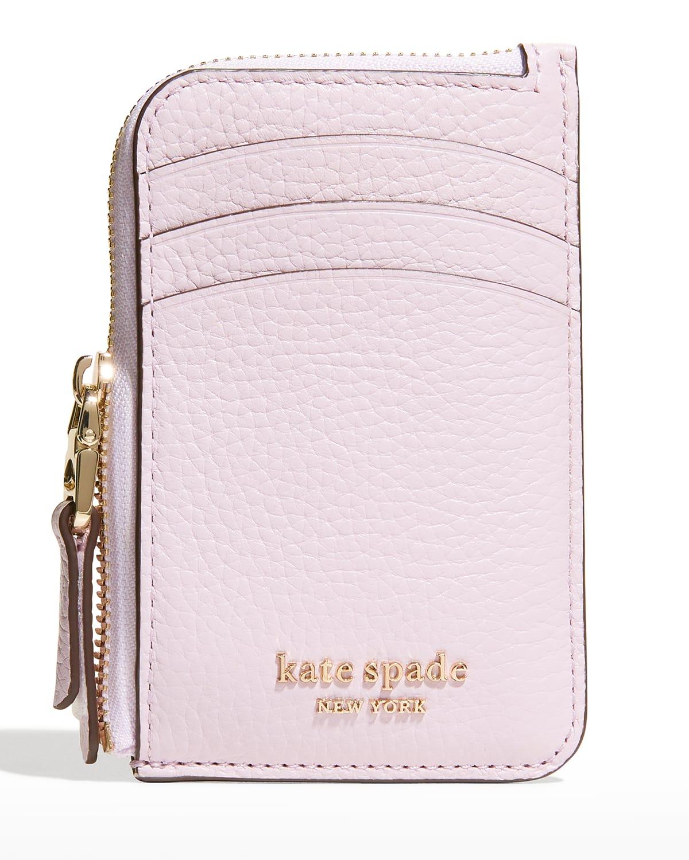 roulette leather zip card case wallet