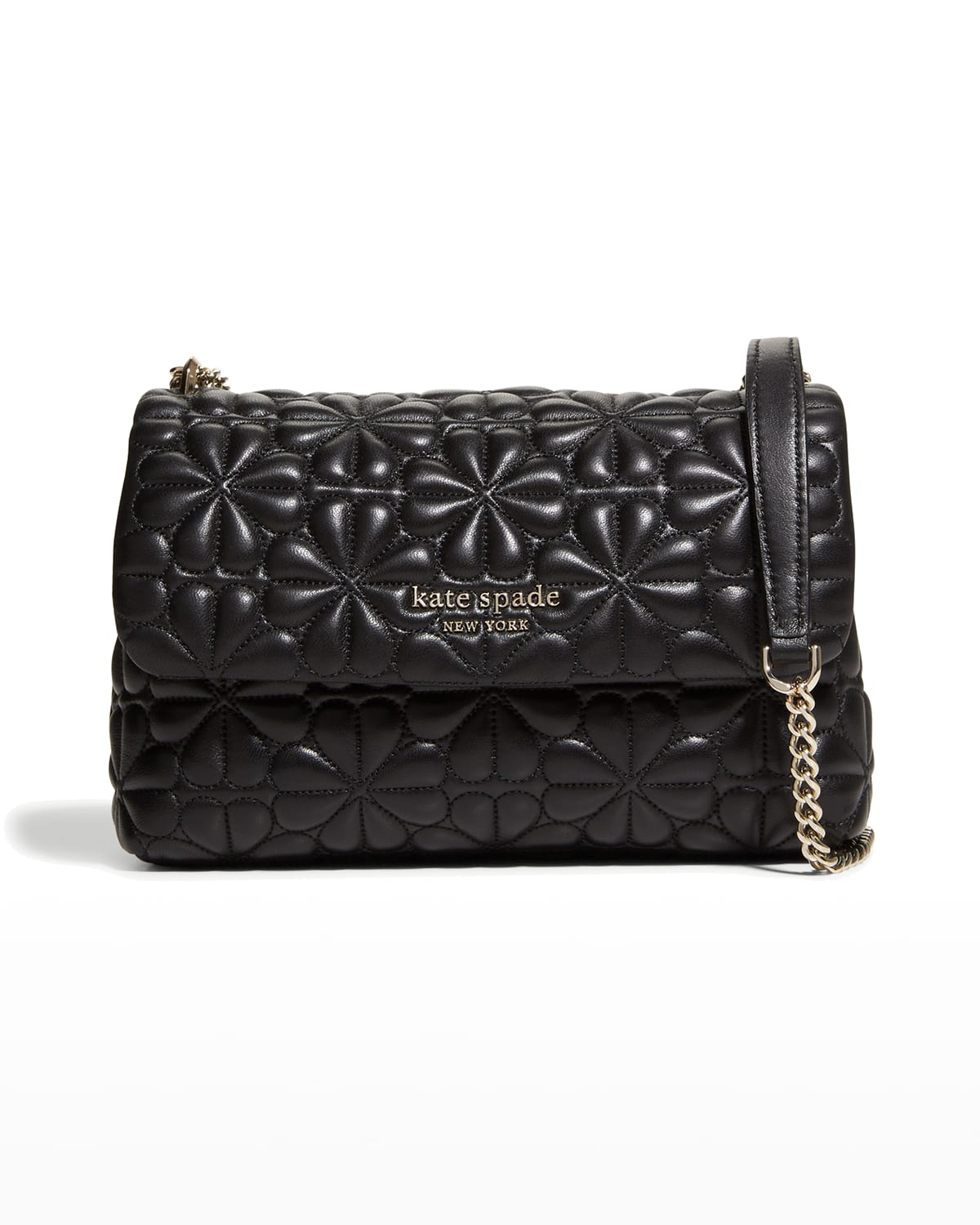 bloom small quilted leather shoulder bag