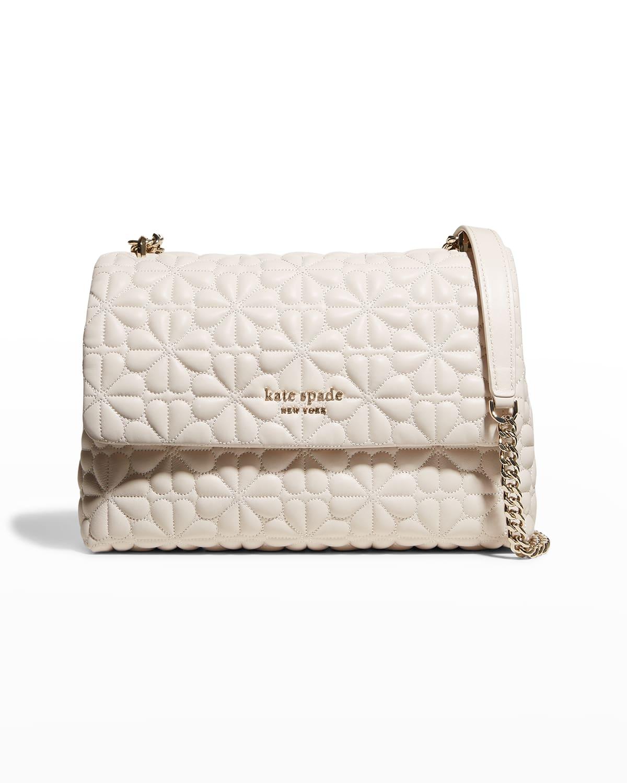 bloom large quilted leather shoulder bag