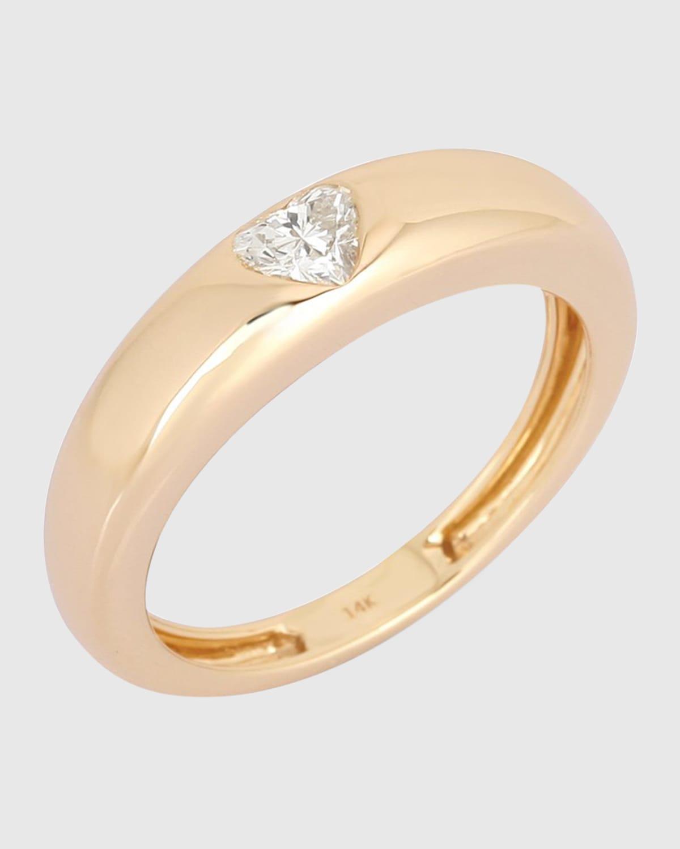 Gypsy Heart Diamond Ring in 14k Yellow Gold