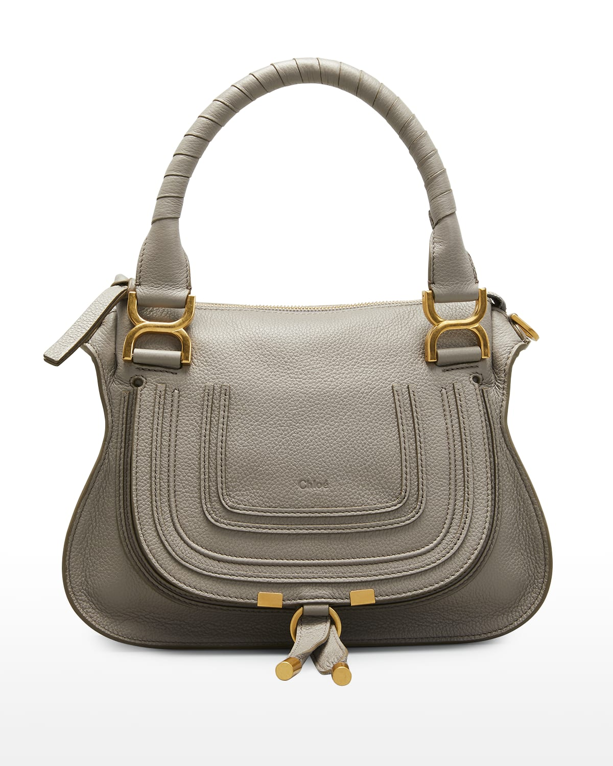 Marcie Small Leather Satchel Bag