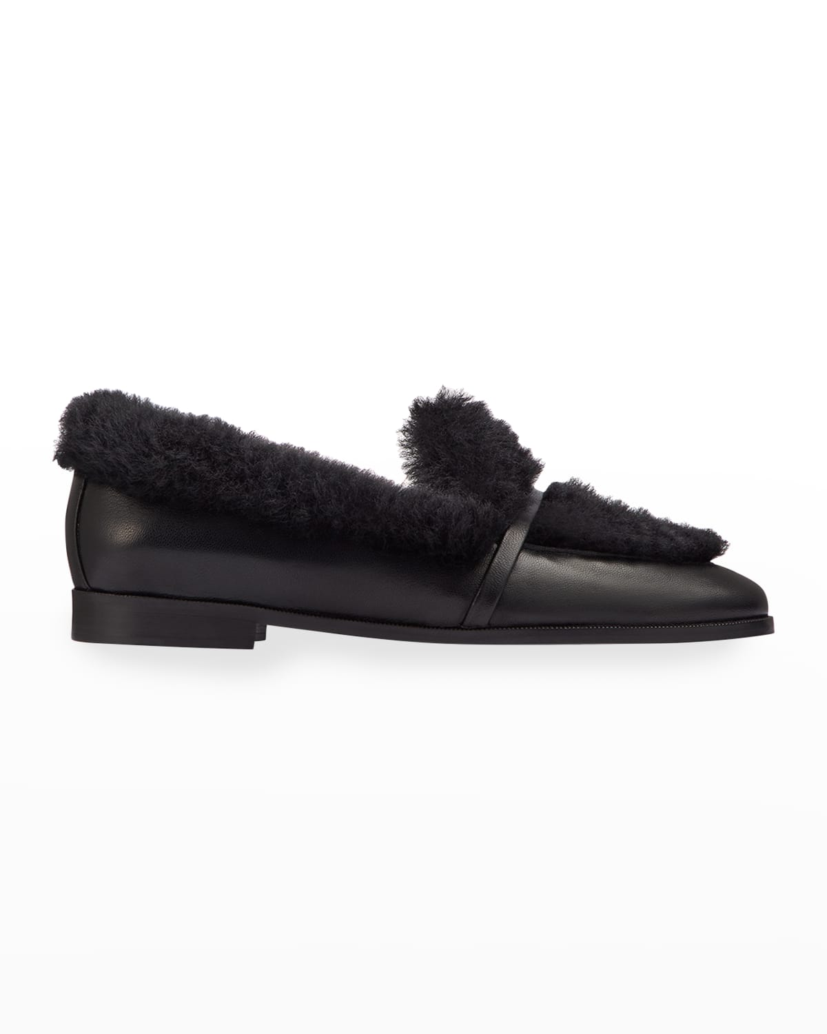 Lia Shearling Flat Loafers