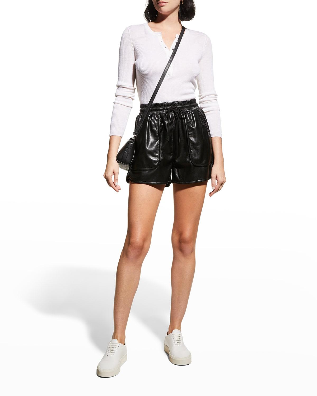 Regan Faux-Leather Shorts