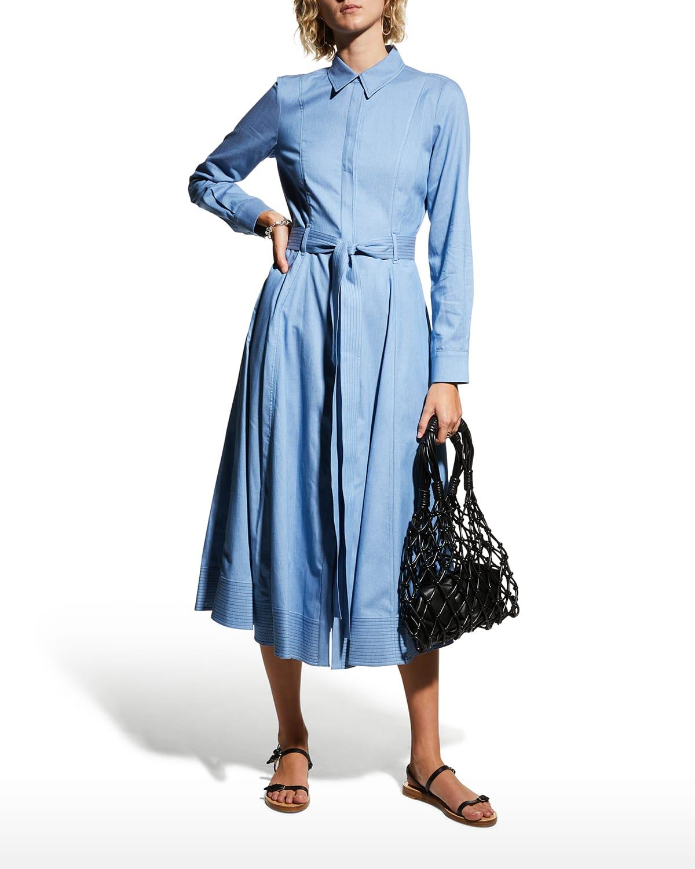 Sola Belted Midi Shirtdress
