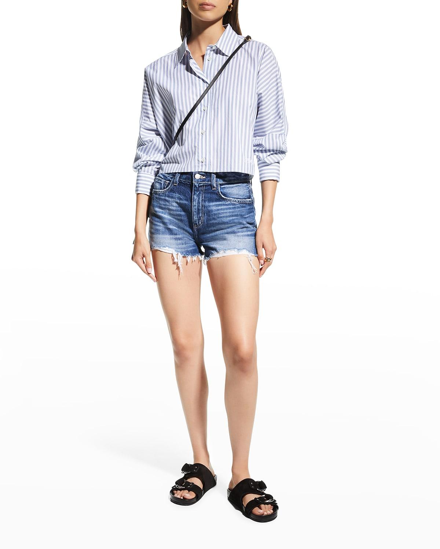 Marilyn Frayed Denim Shorts