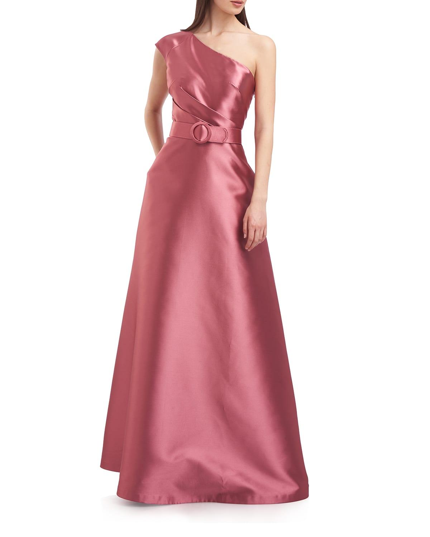 Estella One-Shoulder A-Line Gown