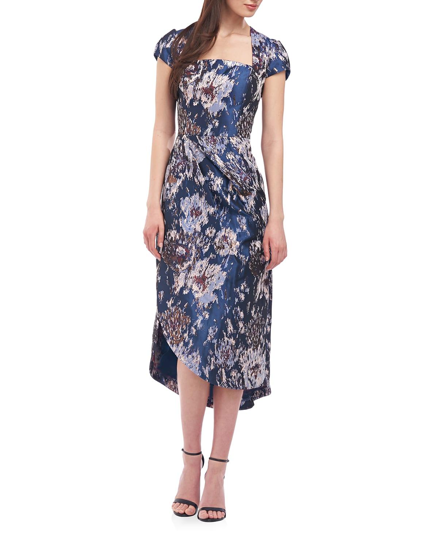 Sutton Cap-Sleeve Midi Dress