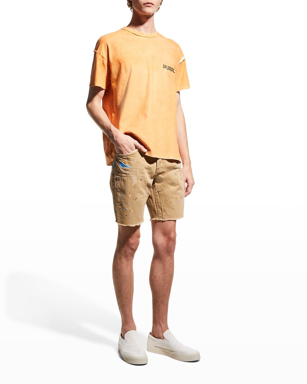 Men's Paint-Splatter Carpenter Shorts