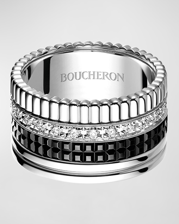 Large Quatre Black Edition Diamond Band