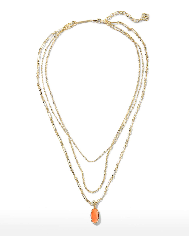 Elisa Triple-Strand Necklace