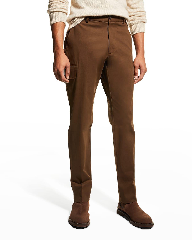 Men's Stretch-Cotton Cargo Pants