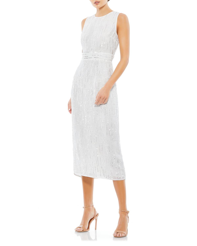 Sequin Sleeveless Bodycon Midi Dress