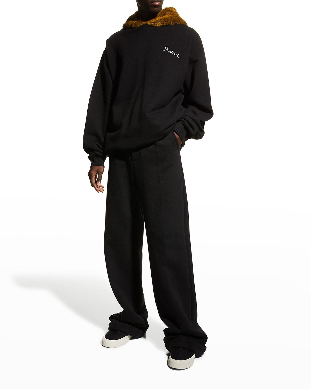 Men's Faux-Fur Hoodie Sweatshirt