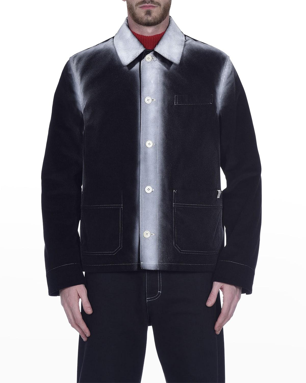 Men's Spray-Paint Corduroy Shirt Jacket