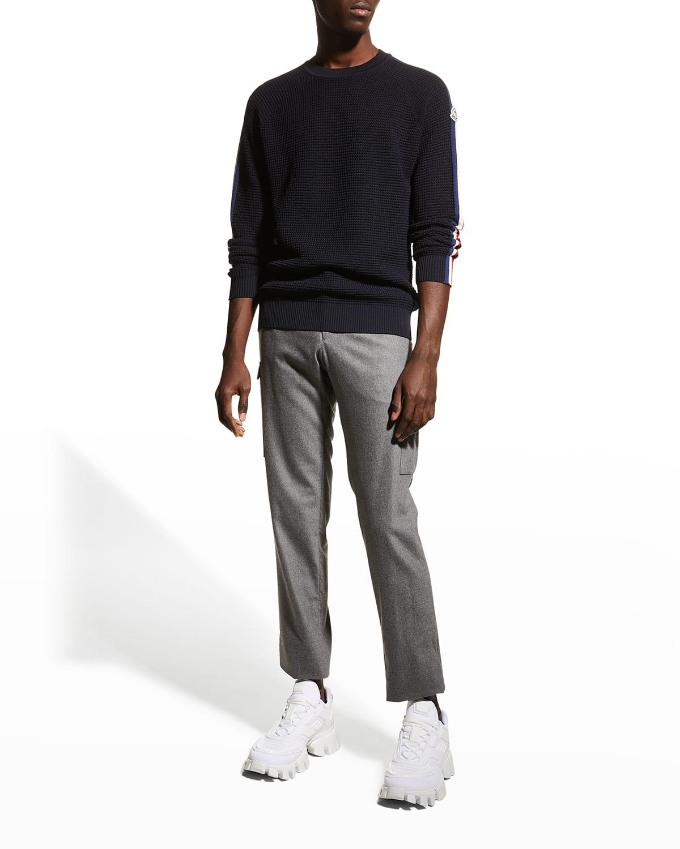 Men's Stripe-Sleeve Sweater
